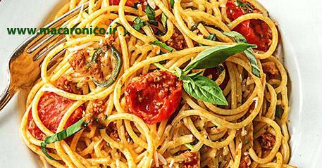انواع ماکارونی رشته ای اسپاگتی